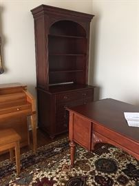 Haverty's bookcase and 2 drawer lateral file.