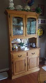 $125   Oak china cabinet