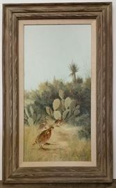 Robert Quill Johnson large quail painting