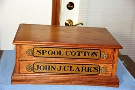 Early Clark 2 Drawer Spool Cabinet