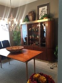 China cabinet, Modern Kitchen table, Carnival Glass