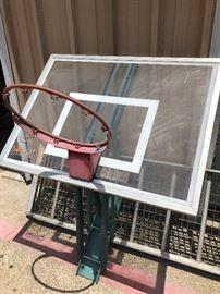 Basketball goal and post