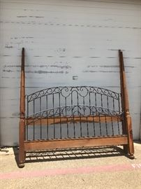 King Iron & Wood Bed
