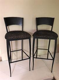 Iron bar stools