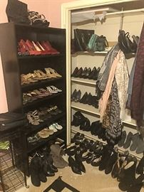 Ladies Shoes and scarfs