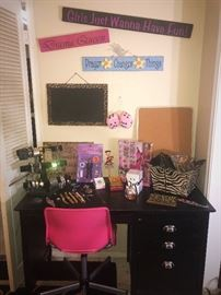 Desk, Chair, Misc teen items