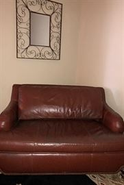 Leather Chair w/pull out bed