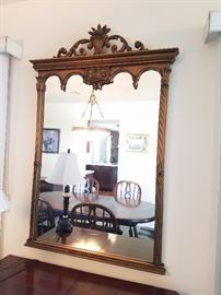 gesso classical style mirror $150