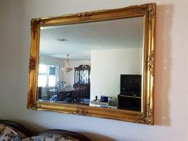 beveled mirror $125
