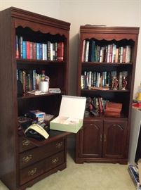 BOOKCASES WITH BOOKS AND OFFICE !