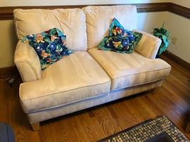 Younger Furniture loveseat. Microfiber.