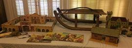 Vintage ABT child's sled, Walt Disney's Davy Crockett Play Set, Vintage Puzzles, Castle, more