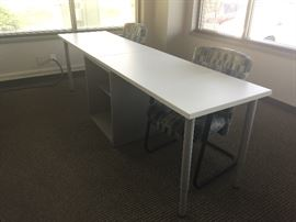 Teknion Work Table with pedestal - four available