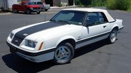 1984 Ford Mustang 5.0 LX V8 302cid/165hp 2 Door GT Convertible, 5 Speed Manual, 53,050 Miles, VIN # 1FABP27M5EF211584