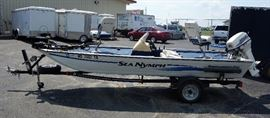 "1998 Sea Nymph TX175EC 17' 6"" Bass Boat and Shorelander Mid Trailer, 1998 Johnson 50hp Motor, 2 Live Wells, Minn Kota Edge Trolling Motor, 2 Locators"