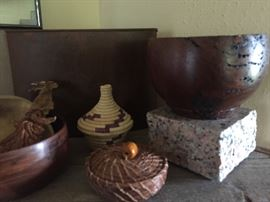 Wooden bowl collection