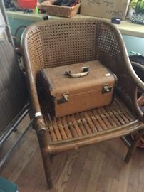Bamboo side chair, have a pair of these.