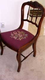 Roseback needlepoint chair
