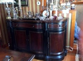 VERY LARGE SERPENTINE FRONT SIDEBOARD