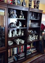 CHINA CABINET BOOKCASE COMBO  ALL INDIVIDUAL SECTIONS