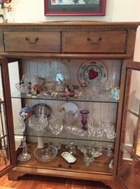 Cabinet and crystal (most crystal will be offered at sale)
