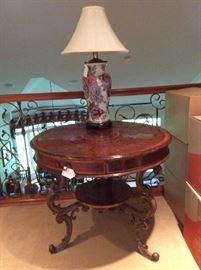 gorgeous center hall table