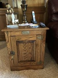 Ice Box Style Side Table, one of three piece set