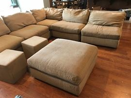 Professionally cleaned sectional with ottoman and side tables (there are metal tops as well) for just $425!! Buy it tomorrow!!!