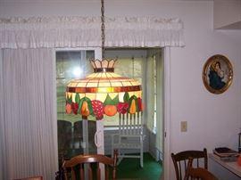 TIFFANY-TYPE HANGING LAMP