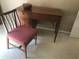 Mid Century knee hole desk and chair