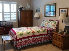 Solid Wood Twing Bedroom Suite