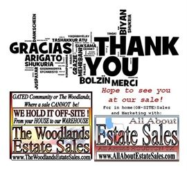 Thank you from All About Estate Sales! Scott Petersen
