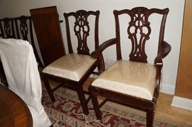 Maitland Smith dining chairs, set of 10.  8 side chairs and 2 arm chairs.