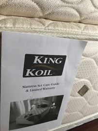 King Koil mattress comes with bedroom set.
