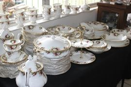 "Royal Albert ""Celebration"" dinner service."