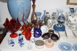 Delft, Wedgwood, Limoges, Murano, Venetian glass, eggs, porcelain.