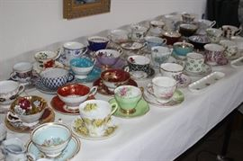 Many many tea cups.