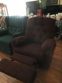 #4 burgundy recliner   $65.00