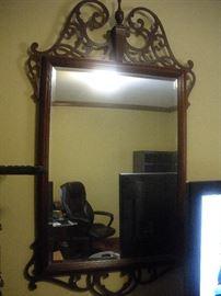 beautiful mahogany mirror