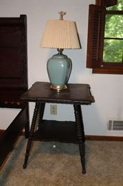 Victorian table with turned legs