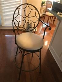 #4	Drexel metal bar stool swivel 28 tall (2) @ 120 ea.	 $240.00