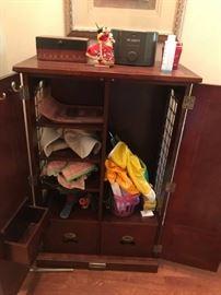 #9dog cabinet w bone handles 26x14x41 $175.00