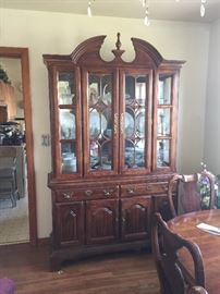 Here's the dining room with a very pretty china cabinet.