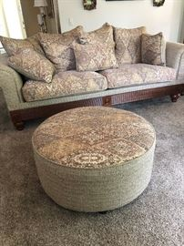 Sofa and Ottoman newly upholstered   2017