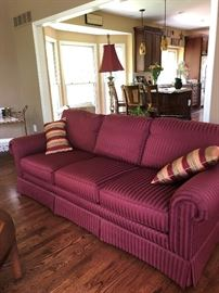 Maroon Sherril couch