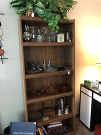 Glassware and shelf