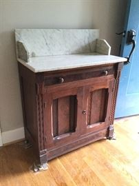 Marble-Topped Wood Side Cabinet http://www.ctonlineauctions.com/detail.asp?id=726888