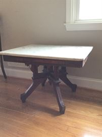 Marble-Topped Side Table     http://www.ctonlineauctions.com/detail.asp?id=726909