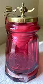 Cranberry Glass Humidor