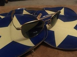 Vintage  American Optical Aviator sunglasses 12K 5 1/2